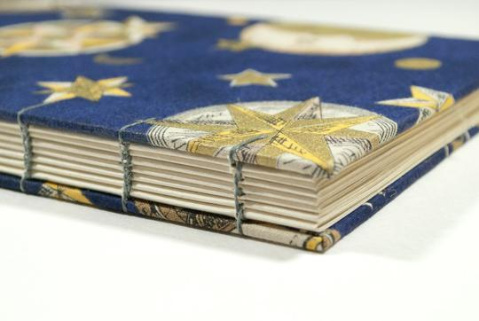 Celestial Coptic Bound Journal by Laura Chenault