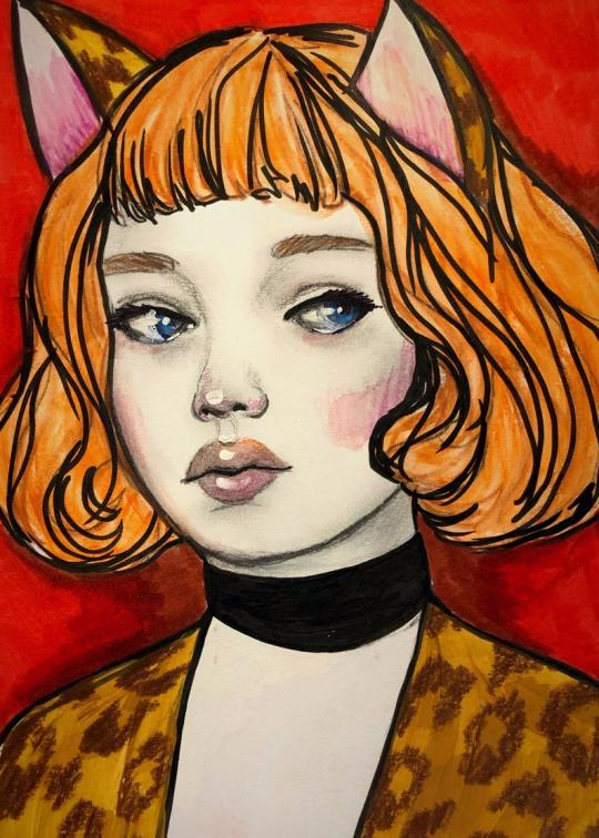 Josie  by Jaymee Laws is a painting of Joie of Josie and the Pussycats.