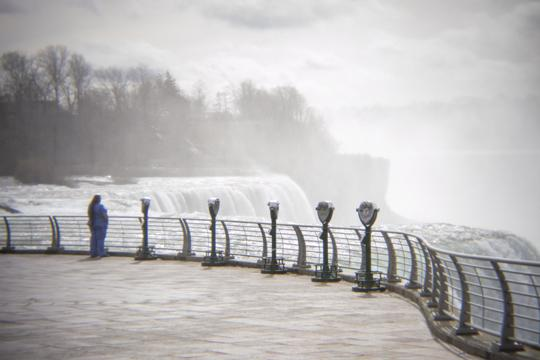 Isolation Falls by Laura Chenault selected as part of One Twelve's Internal Dialogue exhibit. A healthcare worker after a long shift enjoying empty Niagara Falls State Park