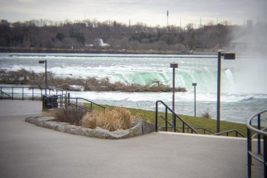 Photo of a very empty Niagara Falls State Park by Laura Chenault – Exploring Terrapin Point at Niagara Falls State Park