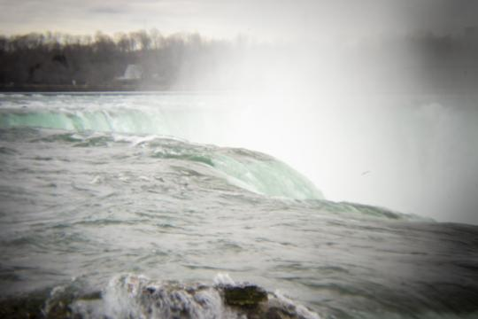 Photo of water rushing over the crest of Niagara Falls by Laura Chenault – Exploring Terrapin Point at Niagara Falls State Park
