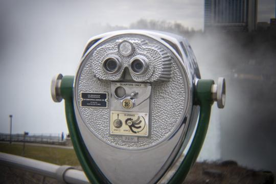 Photo of a coin operated binocular  by Laura Chenault – Exploring Terrapin Point at Niagara Falls State Park