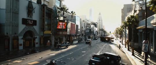A still from Zombieland (2009): Quarantine Cinema showing the empty streets of Atlanta.
