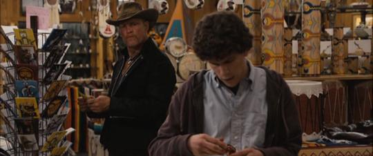 A still from Zombieland (2009): Quarantine Cinema of Columbus and Tallahassee shopping at a roadside tourist stand.