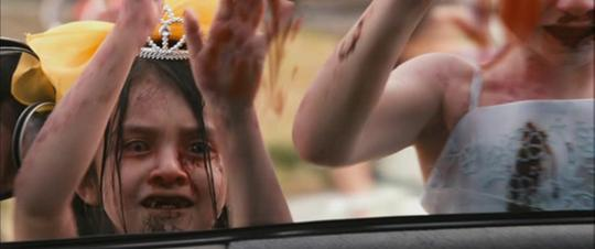 A still from Zombieland (2009): Quarantine Cinema of zombie kids trying to break into a car.