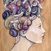 Snail Do (Detail) by Fay Helfer