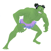Ballerina Hulk by Alex Law