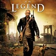 I Am Legend offical movie poster with Will Smith and his dog walking through a ruined landscape