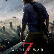 World War Z: Quarantine Cinema official movie poster with Brad Pitt facing away from the viewer with a helicopter in the background.